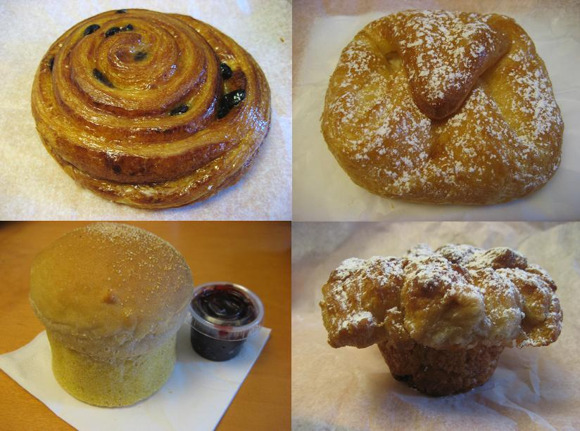 a photo collage of various baked treats
