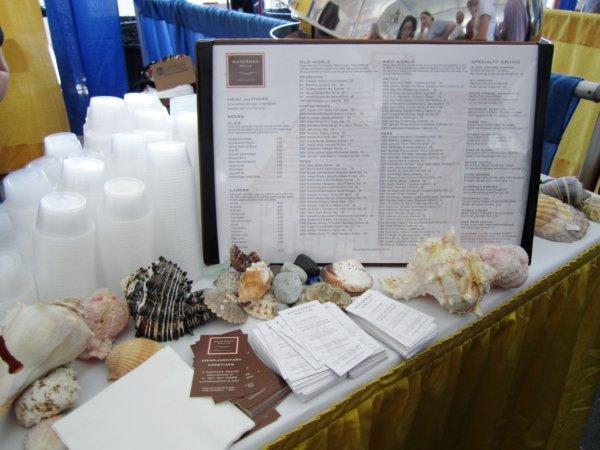 seashells and menus on a table