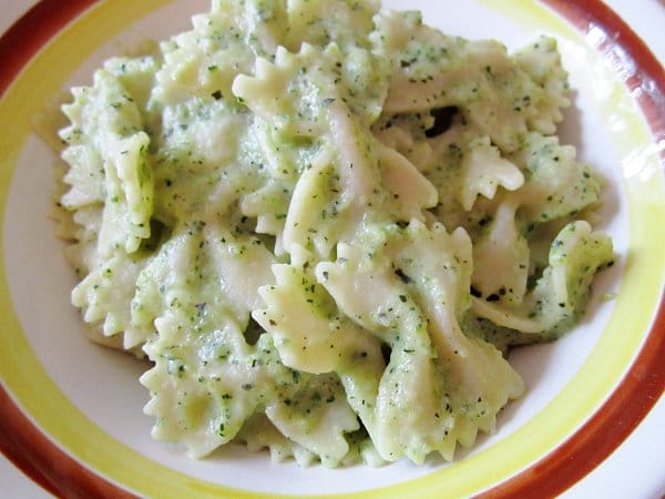 farfalle with zucchini sauce
