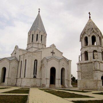 A white stone church