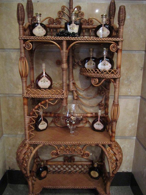 a display of bottles of Armenian brandy