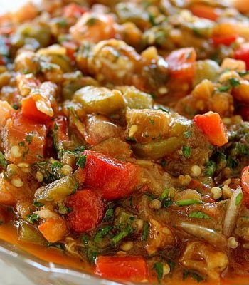 Armenian grilled vegetable salad