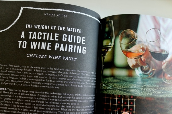 a snapshot inside a cookbook of images of wine