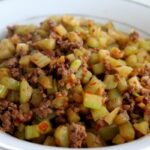 "Sichuanese ""Send the Rice Down"" Chopped Celery with Ground Beef"