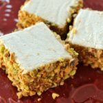 Honeyed cardamom marshmallows with pistachios