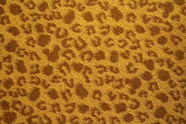 a carpet that looks like giraffe hoof prints with Hidden Mickeys