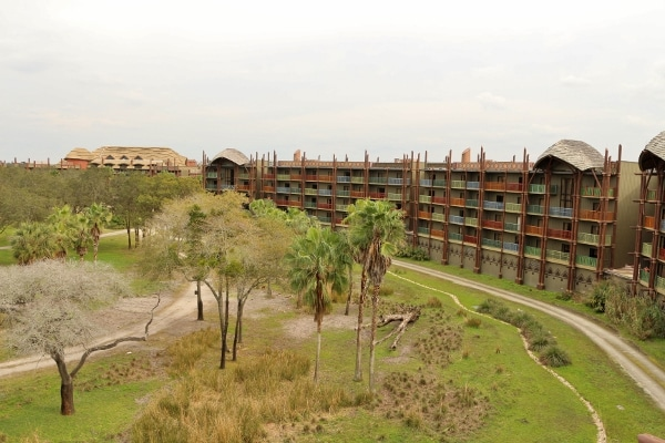 a wide view of the savanna area from a balcony at Animal Kingdom Villas