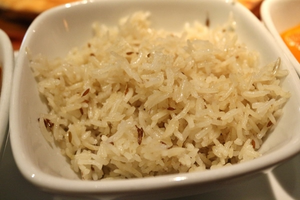 a closeup of a bowl of white rice