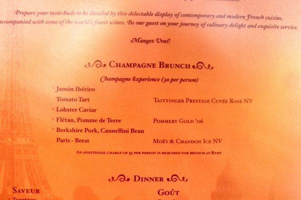 a closeup of a restaurant menu