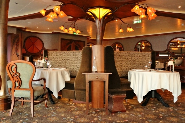 a view of the elegant dining room at Remy