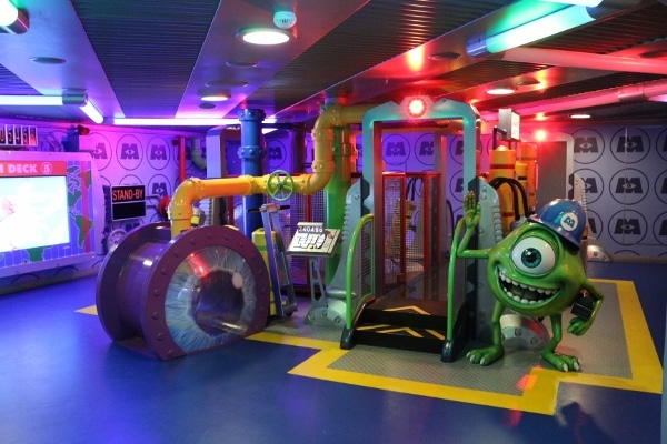 a Monsters Inc themed playroom for children