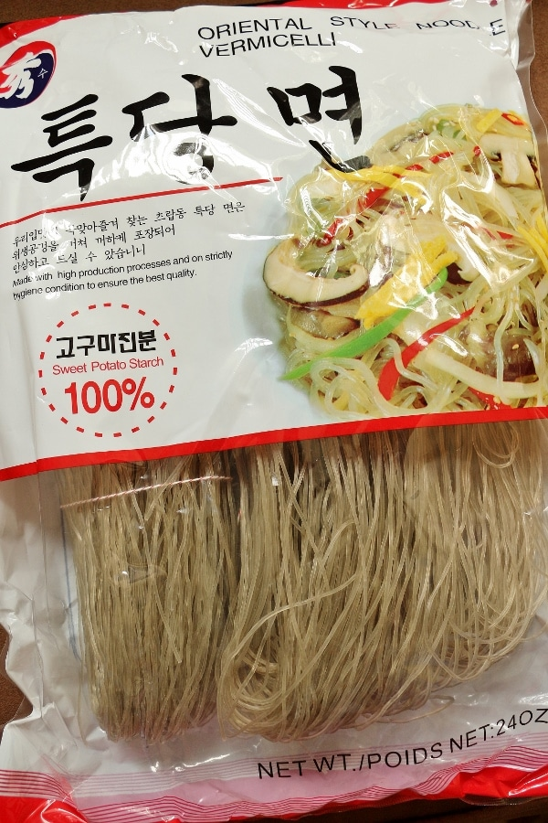 a package of sweet potato noodles