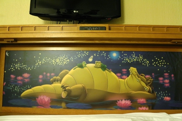 an illustration of a sleeping alligator
