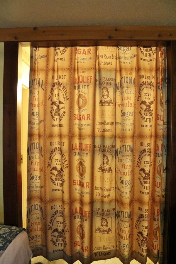 a back-lit curtain