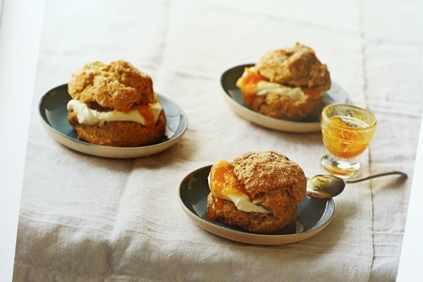 biscuit sandwiches served on small plates