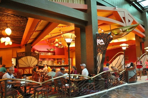 view looking into the Kona Cafe in Disney\'s Polynesian Village Resort