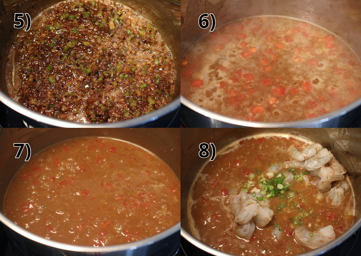 step by step photos of making shrimp etouffee
