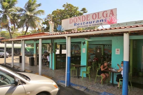 exterior of Donde Olga Restaurant in San Juan, Puerto Rico
