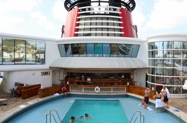 view of a swimming pool on a cruise ship