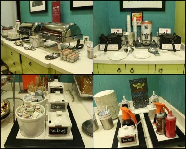 various hotel breakfast buffet offerings