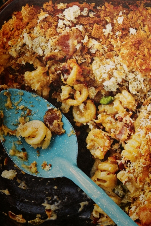 macaroni and cheese in a casserole dish