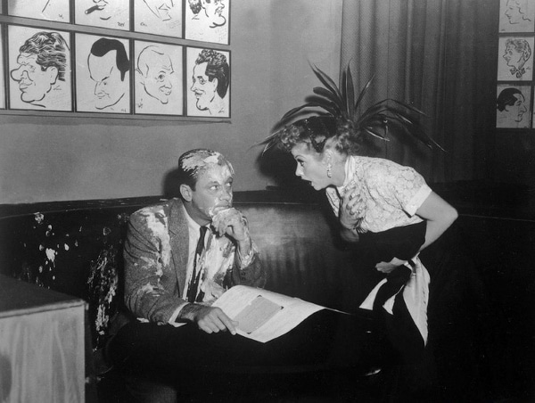 screenshot from an I Love Lucy episode of Lucille Ball in the Hollywood Brown Derby