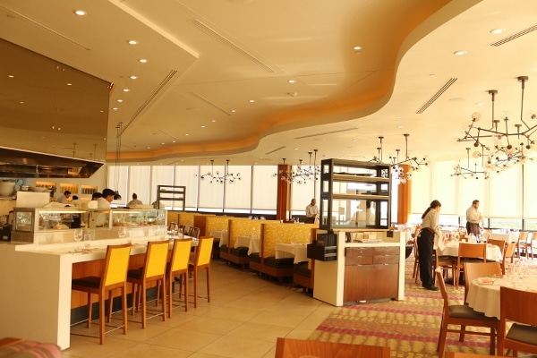 the dining room inside California Grill at Disney\'s Contemporary Resort