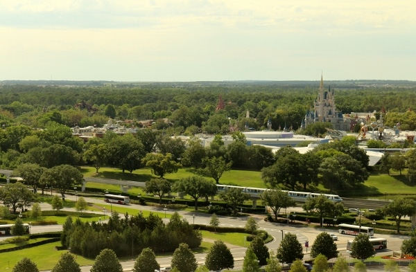 view of the Magic Kingdom from the California Grill