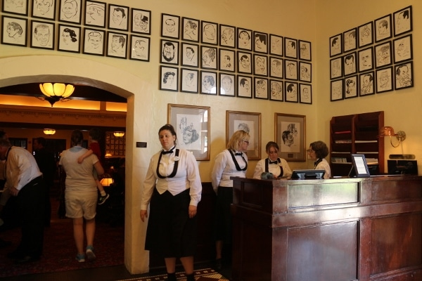 the reception area inside the Hollywood Brown Derby restaurant