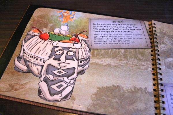 a snapshot of an Uh-Oa! drink inside a menu