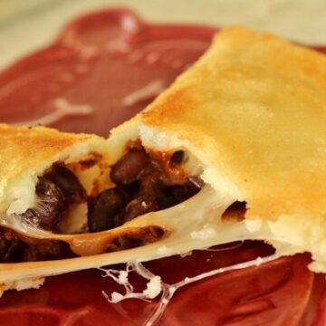 "Venezuelan black bean and cheese ""domino"" empanadas"