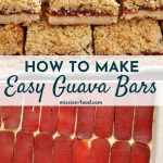 assembling guava bars plus finished result served on a platter