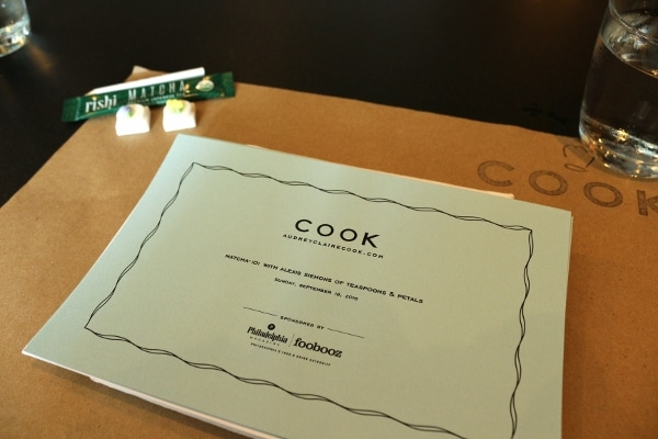 a piece of paper that says Cook at the top
