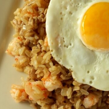 Nasi Goreng, Indonesian fried rice with egg on top