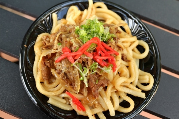 a dish of Teriyaki udon noodles from Epcot\'s Flower and Garden Festival