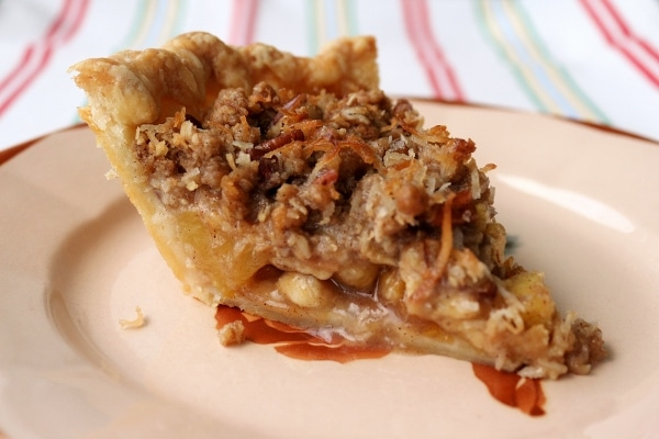 side view of a slice of hummingbird pie