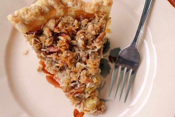 a slice of hummingbird pie with a fork