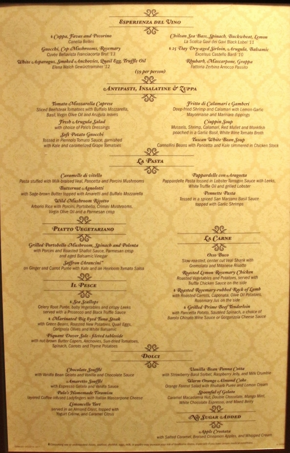 A close up of a restaurant menu