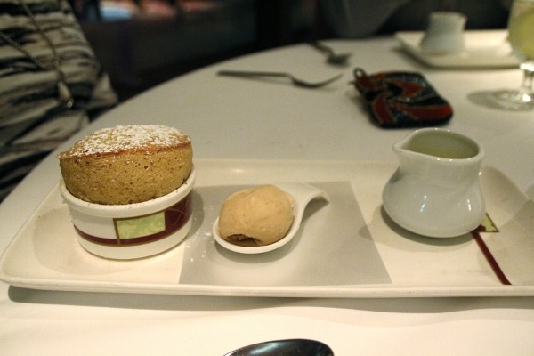 a souffle served with ice cream