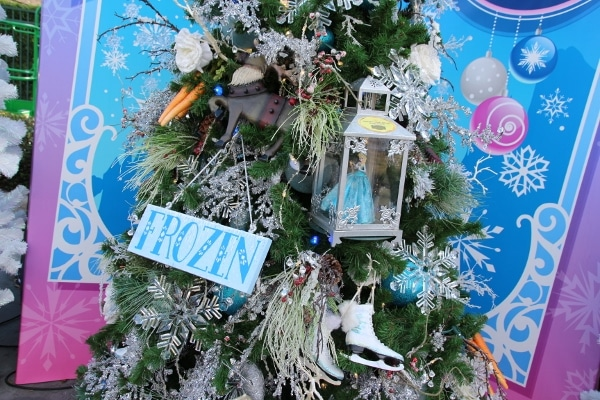 a Christmas tree decorated with a Frozen theme