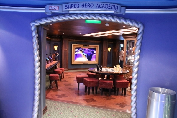 entrance to the Marvel Super Hero Academy in the Oceaneer\'s Club