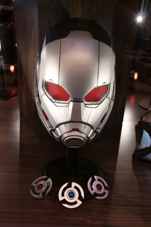 Ant-man\'s mask on display