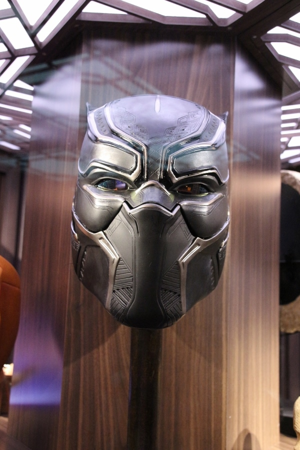 Black Panther\'s mask on display