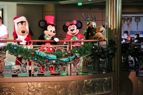 Mickey and Friends dressed up for Christmas