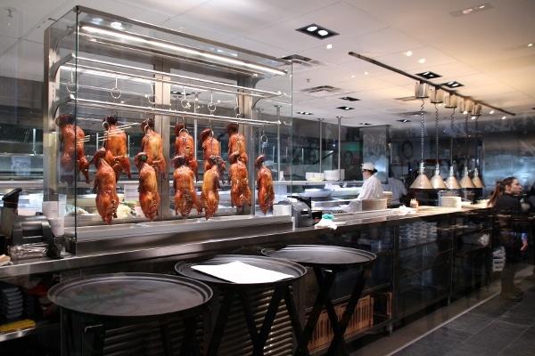 view into the kitchen of Morimoto Asia restaurant in Disney Springs