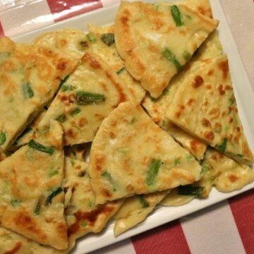 Pajeon, Korean scallion pancakes
