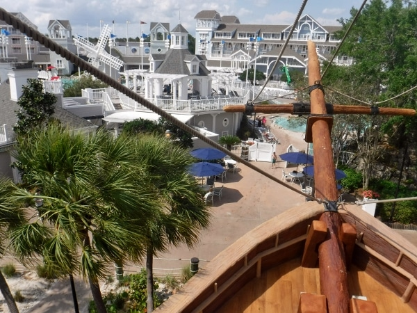 view from the pirate ship slide