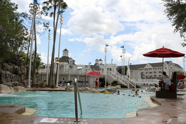 one of the pools at Disney\'s Yacht and Beach Club Resorts
