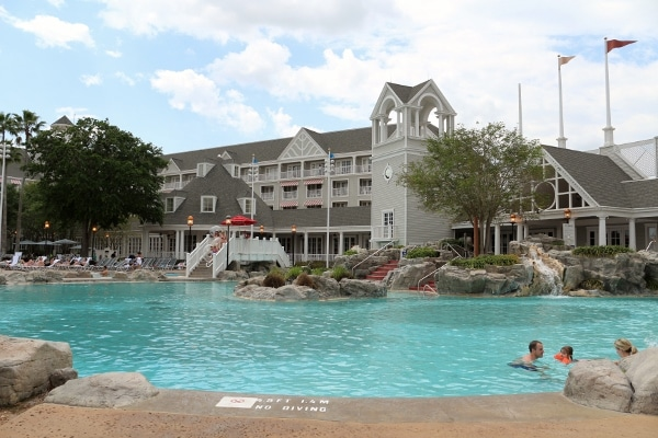 a pool at Disney\'s Yacht and Beach Club Resorts