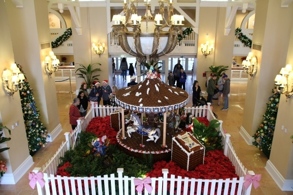 an overhead view of the Gingerbread Carousel at Disney\'s Beach Club Resort